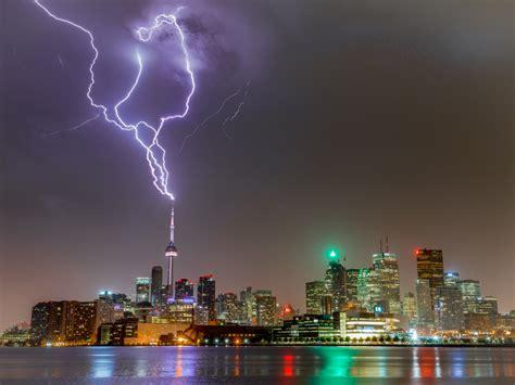 lightning cn tower toronto thunderstorm duncan canada ontario famous flickr park landmarks prints