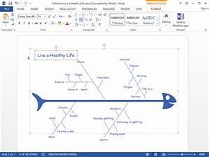 Fishbone Diagram For Word