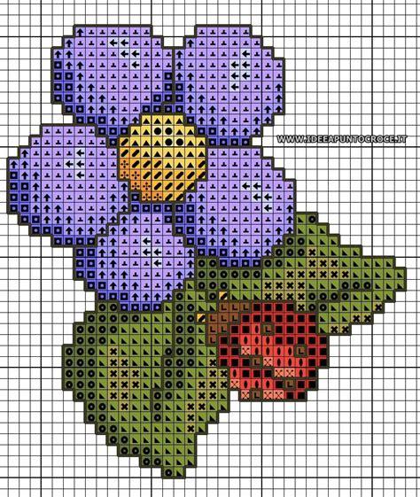 schemi punto croce fiori piccoli schemi punto croce piccoli cesti di fiori punto