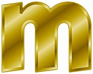 free gold letter m clipart free clipart graphics With gold letter m