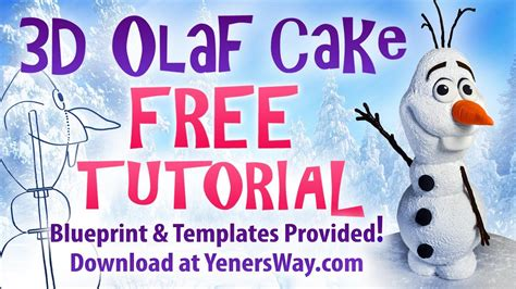 olaf cake tutorial youtube