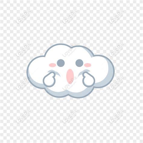 vektor awan putih png
