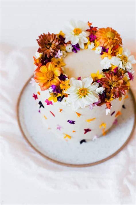 tips   edible flowers  cake  beautiful mess