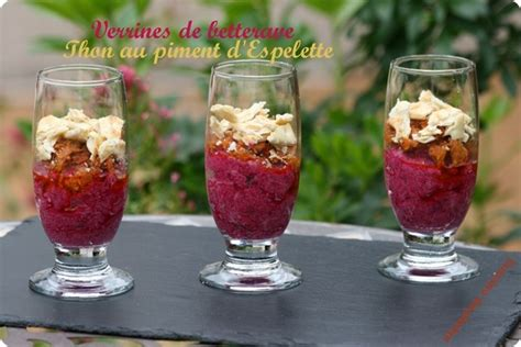 cours de cuisine bayonne verrines de betteraves thon au piment d espelette jambon de bayonne la cuisine des basques