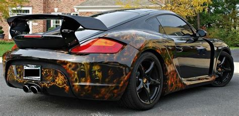 porsche custom paint porsche cayman s with wicked paint job fitting for a