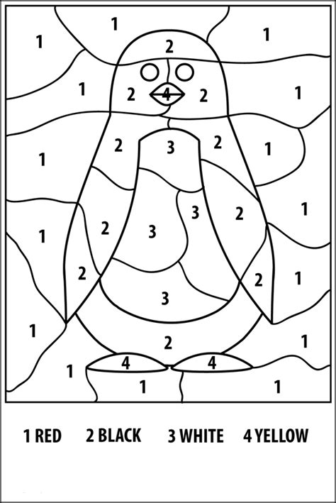 Coloring With Numbers by Free Printable Color By Number Coloring Pages Best