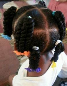 2 strand twist ponies. first time wearing barrettes & she ...