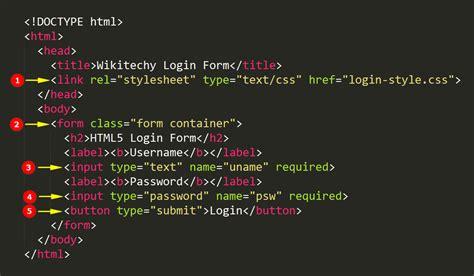html5 login form wikitechy