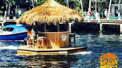 Tiki Bar Boat by Amazing Tiki Boat Seen Sailing Along S Fla Waterways