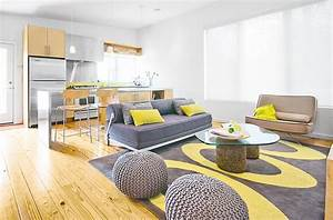 Gray and yellow living rooms photos ideas and inspirations for Yellow and grey living room