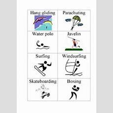 English Teaching Worksheets Sports Flashcards