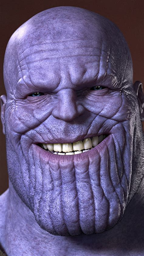 thanos smiling  resolution full hd