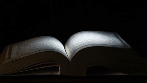 bible pages turned    wind  black background