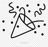 Confetti Confeti Pinclipart sketch template