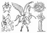 Coloring Pages Hades Rim Pacific Hercules Disney Greek Mythology Printable Gods Goddess Colouring Drawing Getcolorings Zeus Getdrawings Panic Pain Phil sketch template