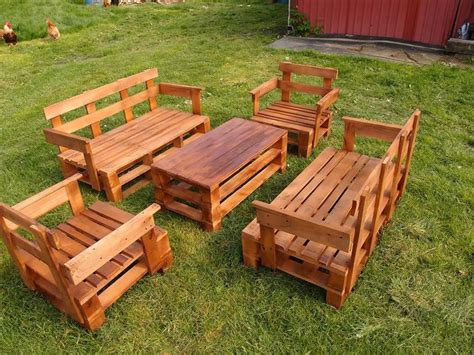 upcycled pallet garden furniture set pallet furniture