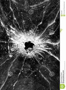Bullet Hole In Glass Stock Image - Image: 5827601