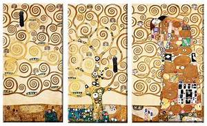 Mantisse Berechnen : gustav klimttriptychon lebensbaum i u ii die erf llunggiclee leinwandfertigbilder ~ Themetempest.com Abrechnung
