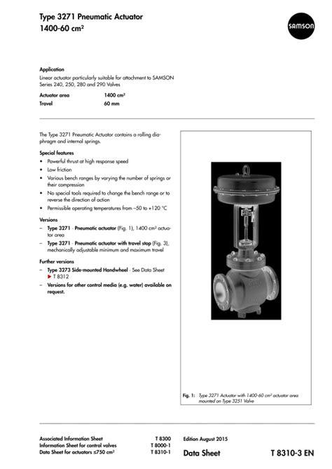 3271 - Pneumatic Diaphragm Actuator-SAMSON