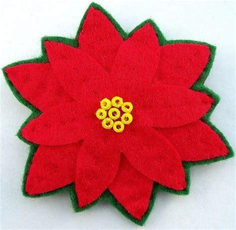 poinsettia felt flower brooch lupin badges brooches