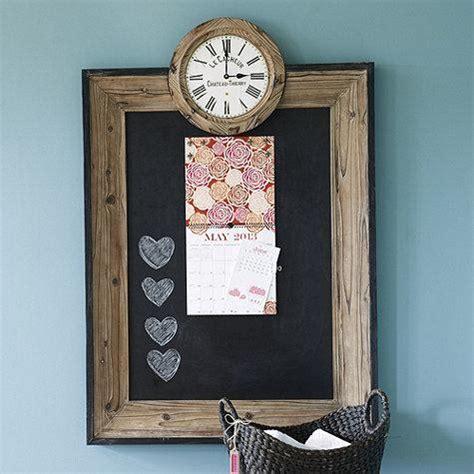 Magnetic Wood Border Chalkboard Clock