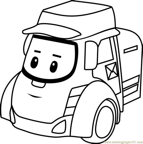posty coloring page  robocar poli coloring pages