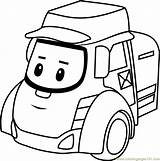 Coloring Posty Poli Robocar Pages Cartoon Coloringpages101 Getdrawings sketch template