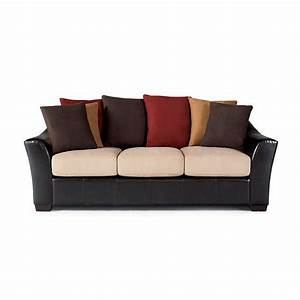 Lily contemporary sofa with decorative loose pillow back for Toss pillows for sofa
