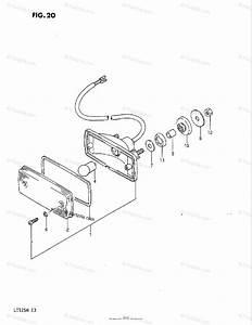 Suzuki Atv 1986 Oem Parts Diagram For Tail Lamp