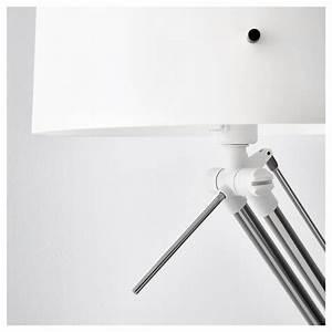 Samtid floor reading lamp nickel plated white ikea for Samtid floor reading lamp nickel plated white