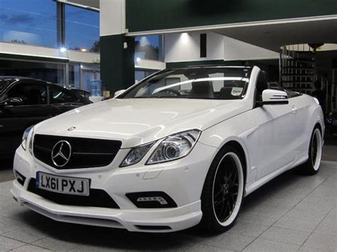used mercedes convertible used mercedes benz 2011 white colour petrol class e500