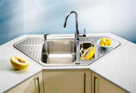 beautiful  practical corner kitchen sink inspirations