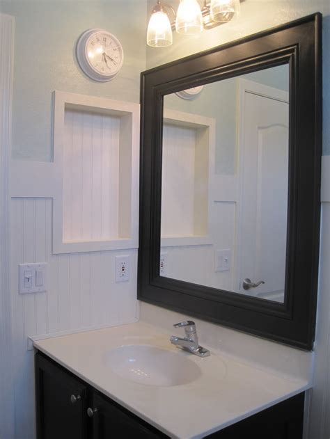 Bathroom Mirror Makeover  Bathroom Mirror Makeover For