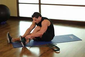 Seated Hamstring and Calf Stretch Exercise Guide and Video