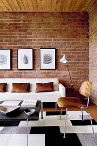 Cool living rooms with brick walls digsdigs