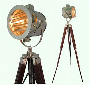 chrome look vintage design searchlight spotlight With chrome camera floor lamp