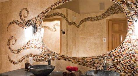 Stikla un keramikas mozaīkas flīzes mūsdienīgā interjerā