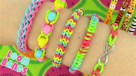 rubber band designs how to make loom bands 5 easy rainbow loom bracelet