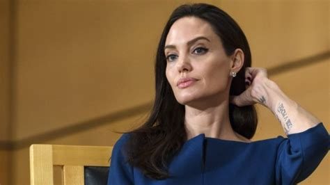 Angelina Jolie Looks Beautiful In Beige While Out In Nyc