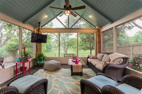 And Decor Plano Tx by Screened Porch In Plano Custom Patios
