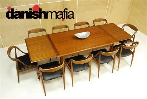mid century modern arne vodder teak dining table