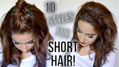 10 hairstyles for short hair quick easy how i style my short hair claribella youtube