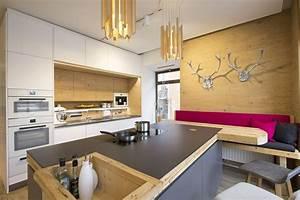Küche Mit Sitzbank : kochinsel in anthrazit kombiniert mit wei ~ Michelbontemps.com Haus und Dekorationen