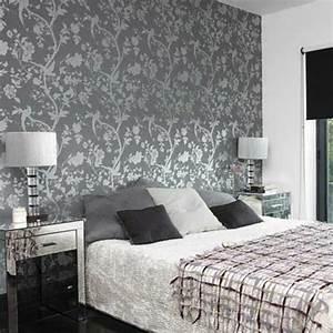 Graue Tapete Schlafzimmer : tapeten schlafzimmer grau ~ Michelbontemps.com Haus und Dekorationen