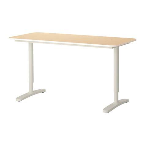 ikea pied de bureau bekant bureau plaqué bouleau blanc ikea