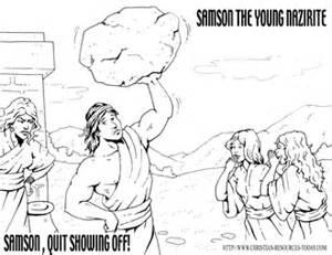 Samson Coloring Page Intersubwaycom Gave Samson Strength Coloring