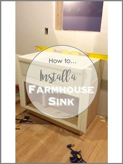 how to install farmhouse sink how to install a farmhouse sink