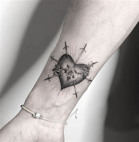 sacred heart  tattoo design ideas