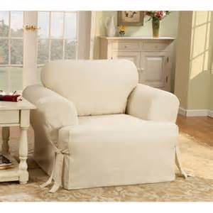 sure fit cotton duck t cushion slipcover for chair in