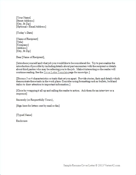 Creating The Resume And Cover Letter by Cover Letter For Resumes Best Resume Gallery